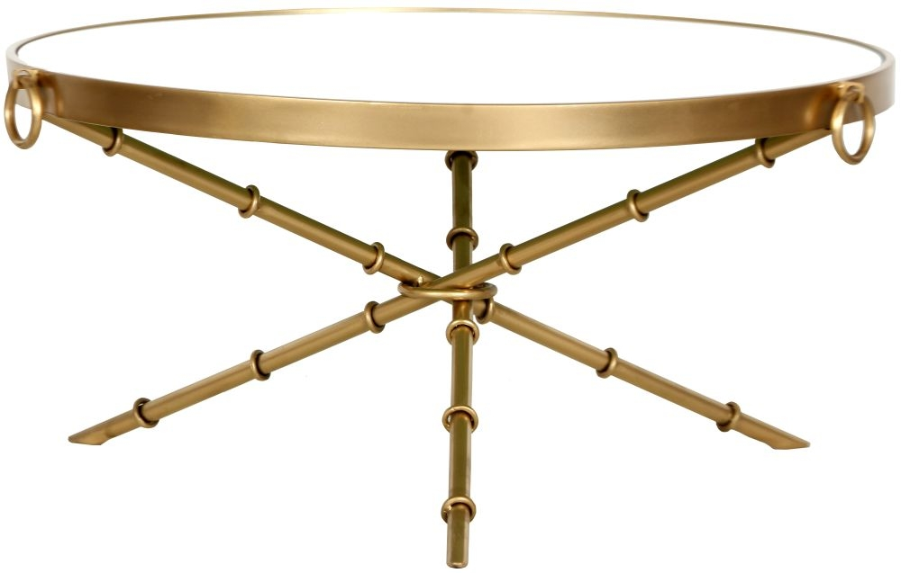 Bari Round Gold Coffee Table