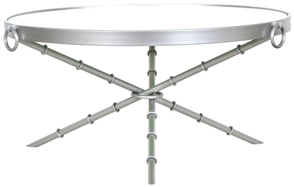 Bari Round Silver Coffee Table