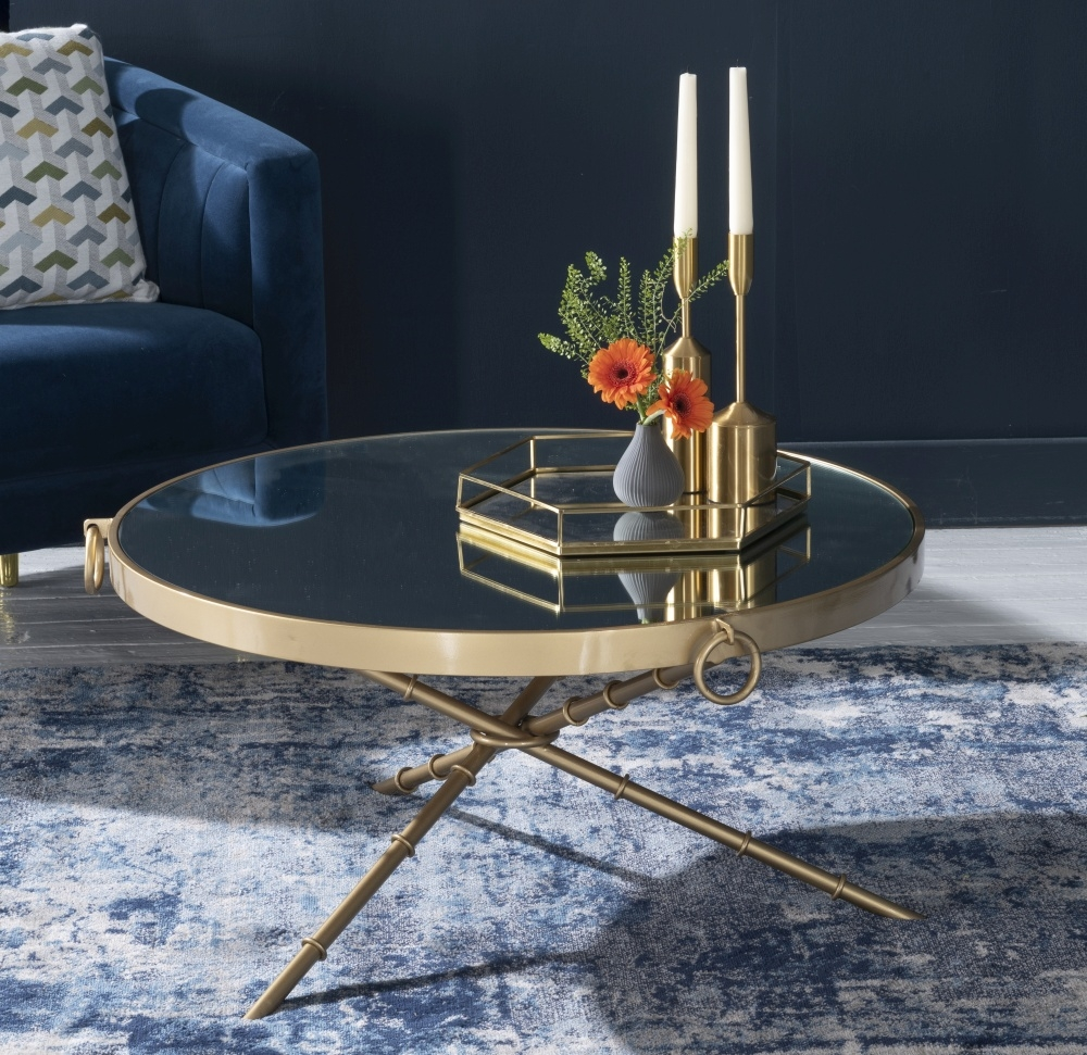 Bari Gold Round Coffee Table