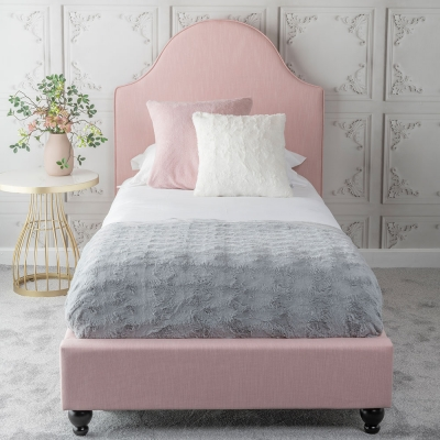 Urban Deco Daisy Powder Pink Fabric 3ft Single Bed