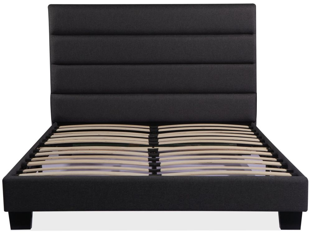 Urban Deco Rio Charcoal Grey Fabric Bed