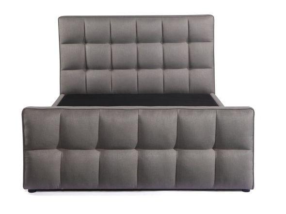 Urban Deco Cube Elephant Grey Fabric Ottoman Storage Bed