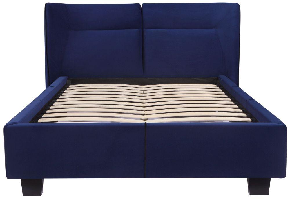 Urban Deco Simba Cobalt Blue Velvet Bed