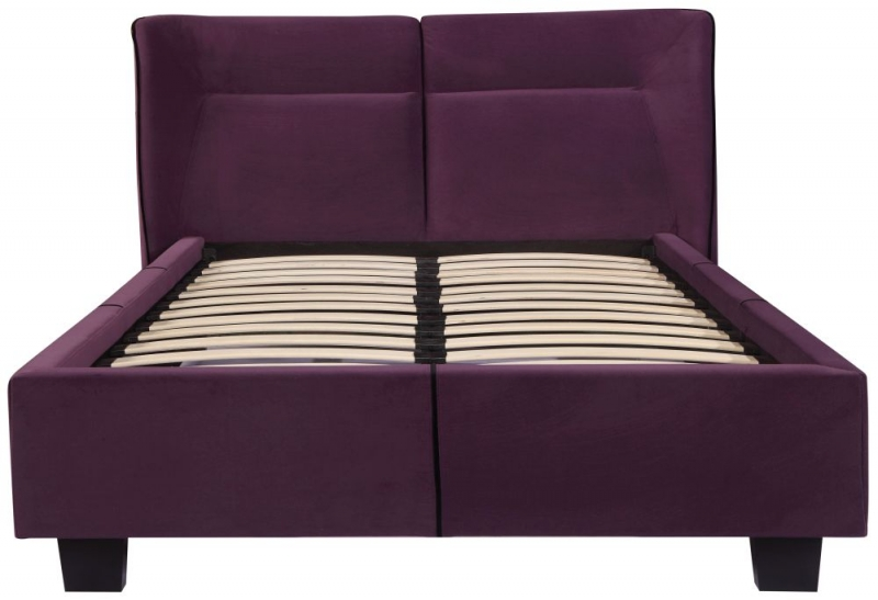 Urban Deco Simba Purple Velvet Bed