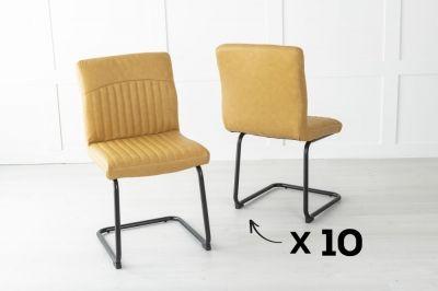 Set of 10 Brooklyn Metal Musturd Dining Chair