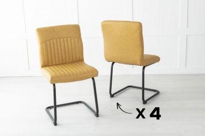 Set of 4 Brooklyn Metal Musturd Dining Chair