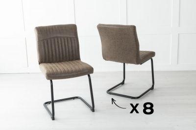 Set of 8 Brooklyn Metal Brown Dining Chair