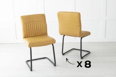 Set of 8 Brooklyn Metal Musturd Dining Chair