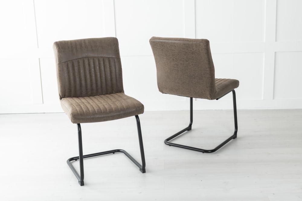 Brooklyn Metal Brown Dining Chair