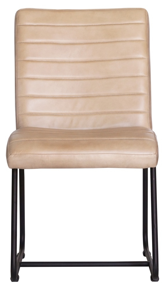 Brooks Genuine Leather Dining Side Chair - Taupe