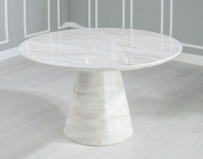 Urban Deco Carrera 130cm White Marble Dining Table
