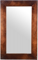Urban Deco Dakota Dark Mango Distressed Rectangular Wall Mirror - 50cm x 80cm