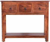 Urban Deco Ganga Sheesham 3 Drawer Wide Console Table