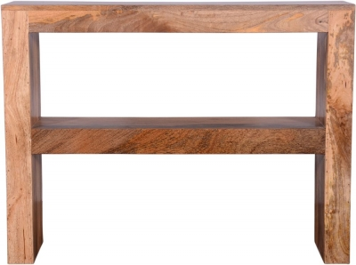 Urban Deco Dakota Light Mango Rustic Console Table
