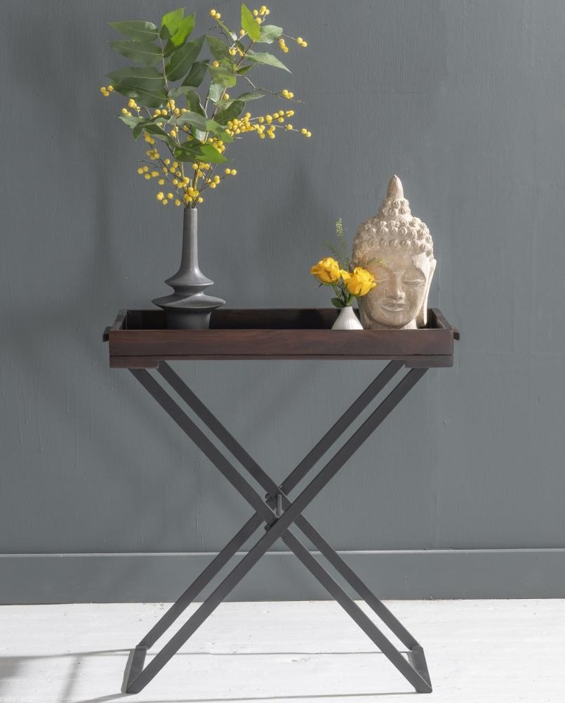 Jali Indian Sheesham Wood Small Tray Table