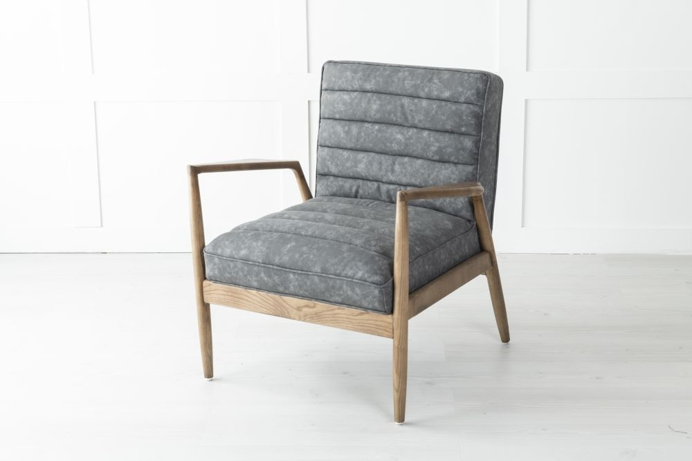 Relaxo Grey Faux Leather Armchair