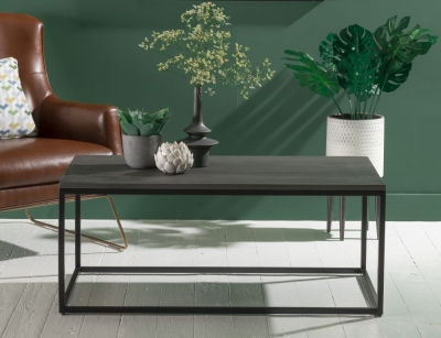 Faux Concrete Rectangular Coffee Table
