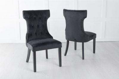Courtney Black Velvet Fabric Dining Chair
