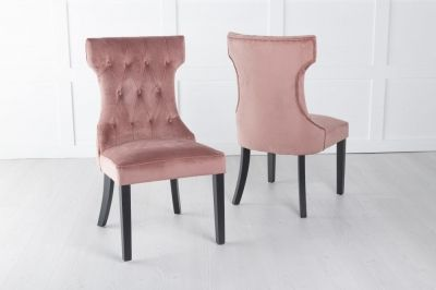 Courtney Pink Velvet Fabric Dining Chair