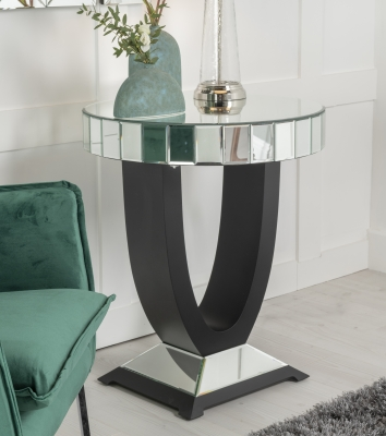 Urban Deco Crystal Mirrored Side Table
