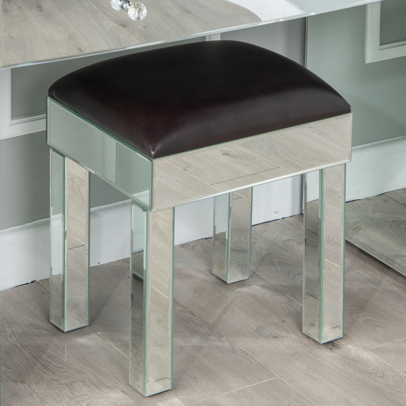 Urban Deco Curve Mirrored Dressing Stool