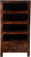 Urban Deco Dakota Dark Mango Distressed 1 Drawer Tall Hi Fi Unit