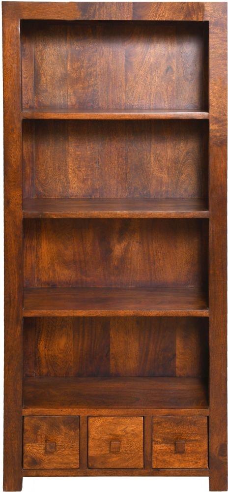 Urban Deco Dakota Dark Mango Large Bookcase