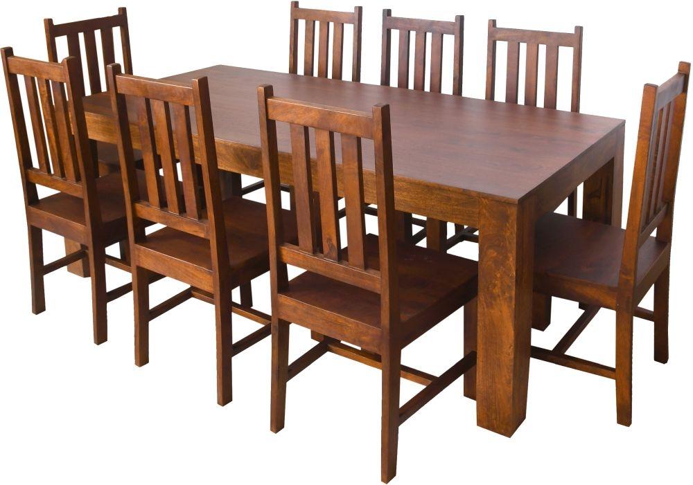 Urban Deco Dakota Dark Mango Wood Large Dining Table