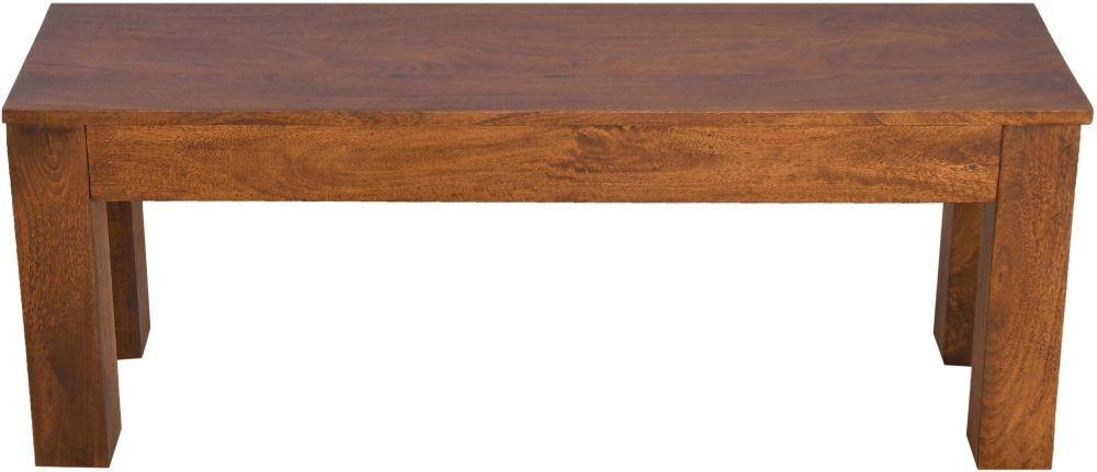 Urban Deco Dakota Dark Mango Wood Small Bench