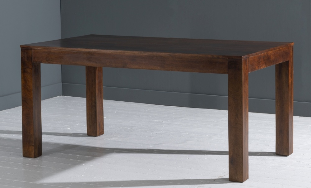 Dakota Indian Mango Wood 200cm Rectangular Dining Table - Dark