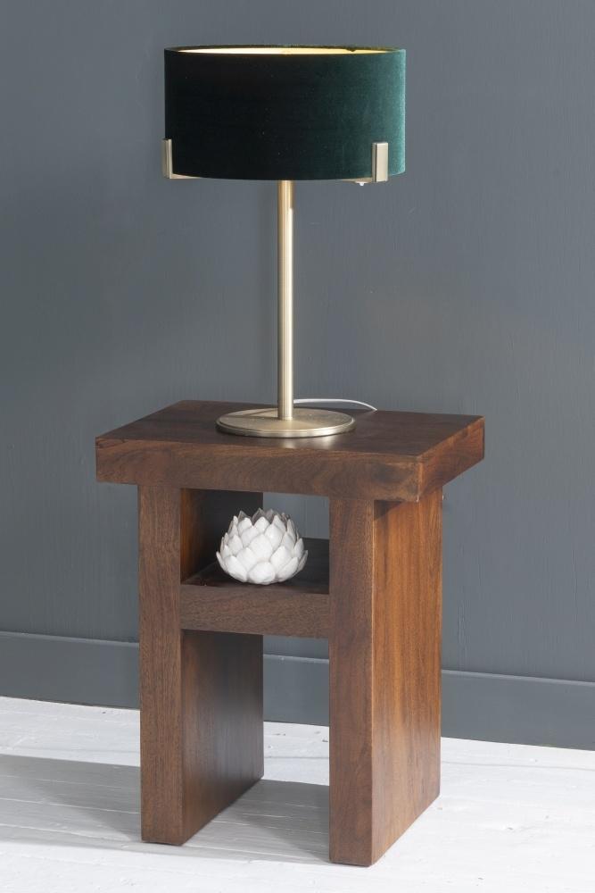 Dakota Indian Mango Wood Side Table - Dark