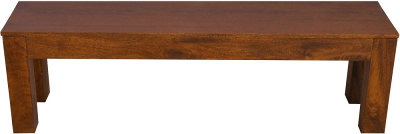 Urban Deco Dakota Dark Mango Wood Large Bench