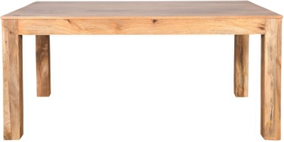 Dakota Indian Mango Wood 200cm Rectangular Dining Table - Light
