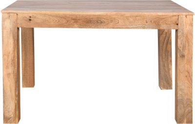 Dakota Indian Mango Wood 120cm Rectangular Dining Table - Light