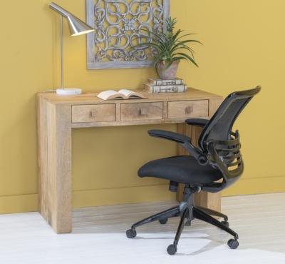 Dakota Indian Mango Wood Writing Desk - Light