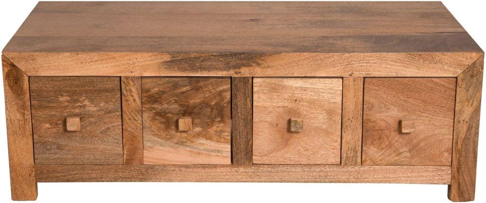 Urban Deco Dakota Light Mango Wood 8 Drawer Coffee Table