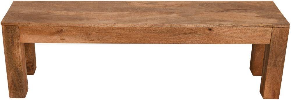 Urban Deco Dakota Light Mango Wood 148cm Bench