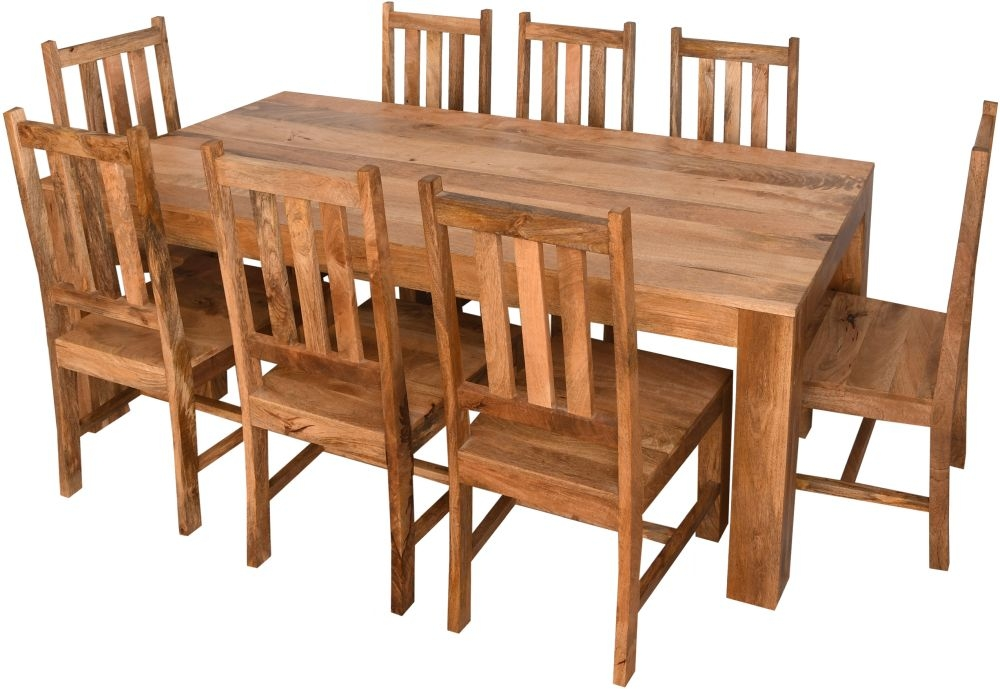 Urban Deco Dakota Light Mango Wood 120cm Dining Table