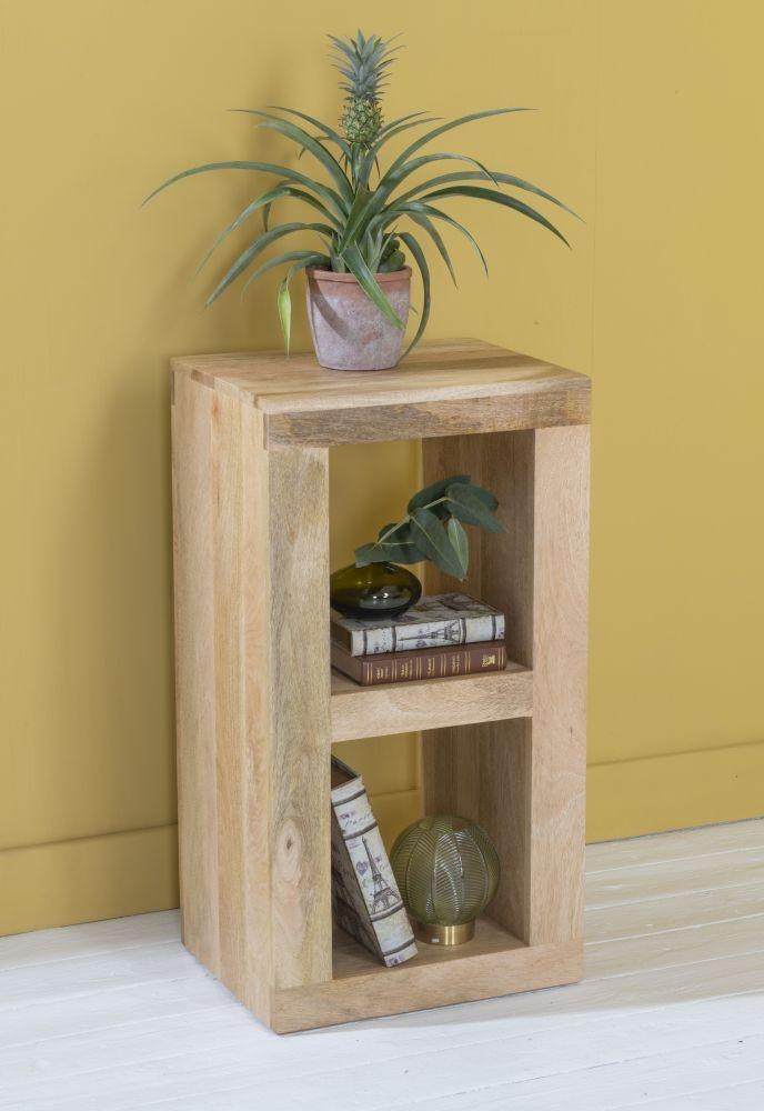 Dakota Indian Mango Wood 2 Hole Cube - Light