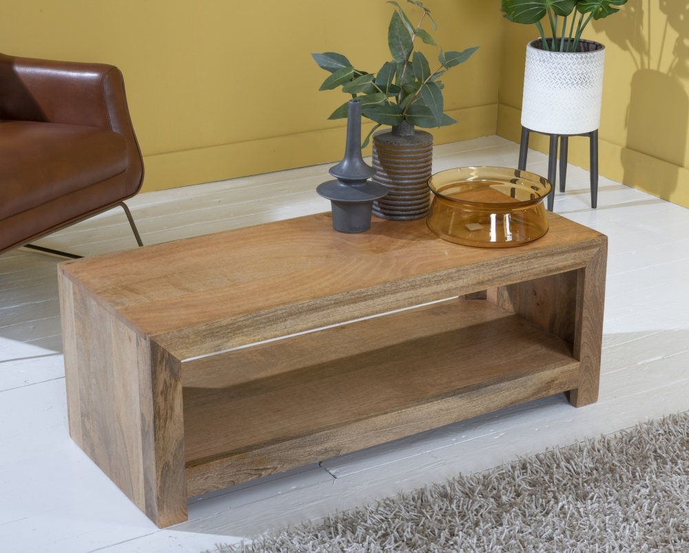 Dakota Indian Mango Wood Evolution Coffee Table - Light