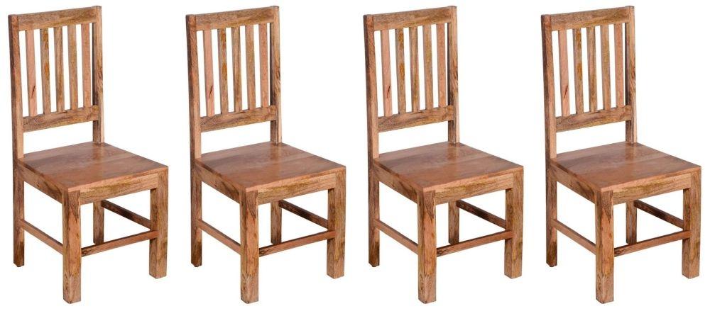 Product photograph showing 4 X Urban Deco Dakota Light Mango Dining Chair