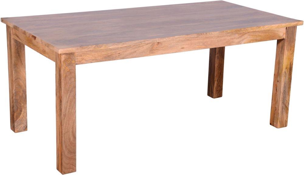Urban Deco Dakota Light Mango Rustic 178cm Rectangular Dining Table
