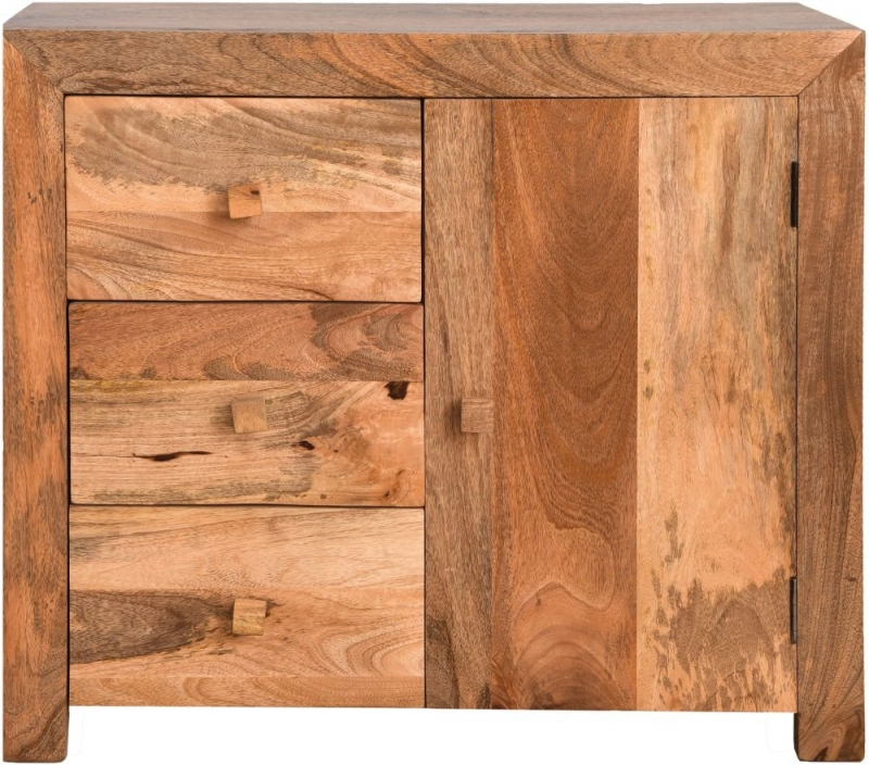 Dakota Indian Mango Wood Small Sideboard - Light