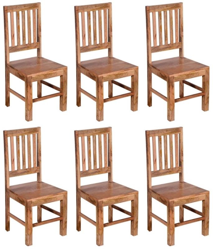 6 x Urban Deco Dakota Light Mango Dining Chair