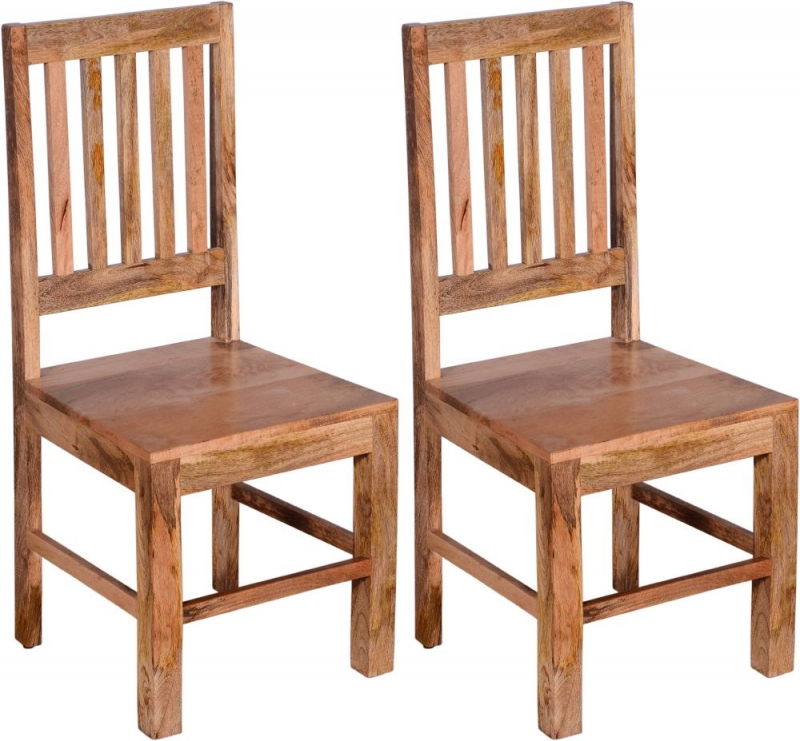 Urban Deco Dakota Light Mango Rustic Dining Chair (Pair)