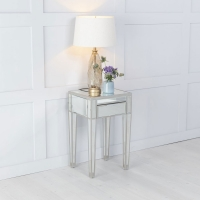 Urban Deco Elysee Mirrored 1 Drawer Bedside Table