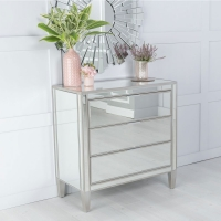 Urban Deco Elysee Mirrored 3 Drawer Chest