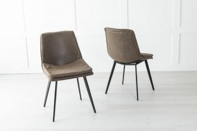 Ezra Metal Brown Dining Chair