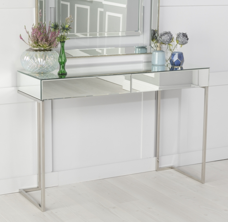 Urban Deco Fenwick Mirrored Console Table