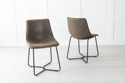 Flint Metal Brown Dining Chair